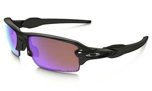 Oakley Flak Jacket 2.0 Alt Fit Sunglasses Pol BLK/Prizm Golf & Care Kit - Flak Prizm 2.0