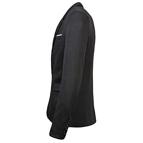 Autunno Skinny Vintage Manica Elegante Schwarz Sposa Blazer Da Lunga Bottone Giacca Tuxedo Uomo Completo Slim 1 Huixin Fit aqBtzt