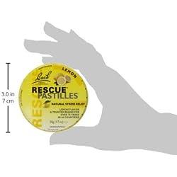 Bach Rescue Remedy Natural Stress Relief Pastilles Lemon Flavor 1.7 oz