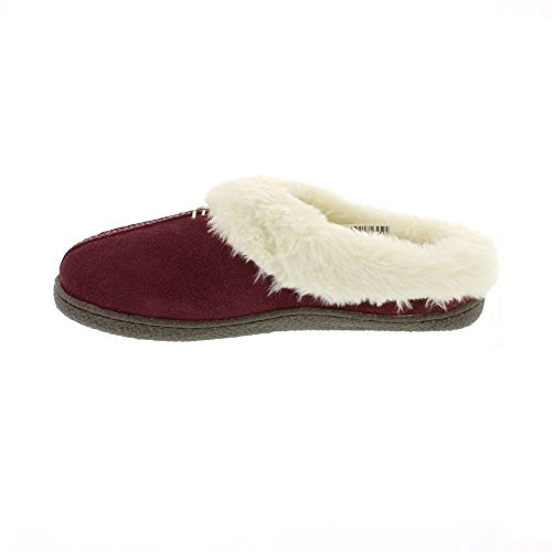 Clarks Home Classic Suede Slippers In Burgundy 0hfWFzpTec