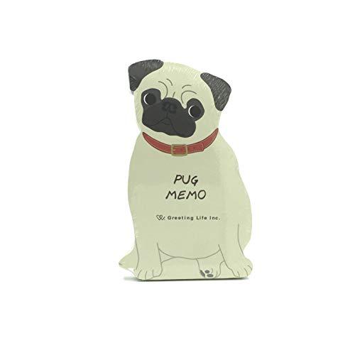 1 Die Cut Memo Pad - Pug Dog Die-cut Memo Pad 2.75