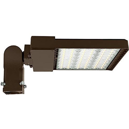 LED Parking Lot Fixture 29,700 Lumens - 5000 Kelvin - 220 Watt - 400 Watt MH Replacement - Type V - 120-277V - Comes with Slipfitter Mounting Bracket - 70% Brighter Than 400W Metal Halide and 50% Less