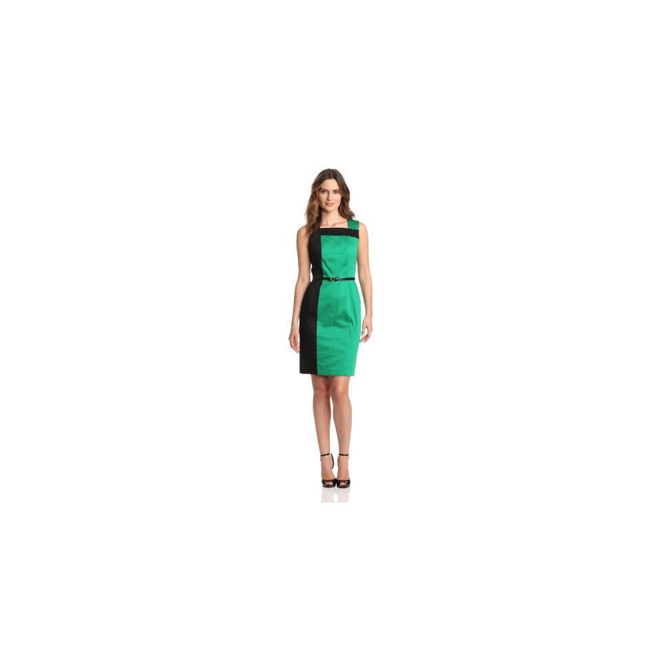 Calvin Klein Womens Sleeveless Color Block Dress