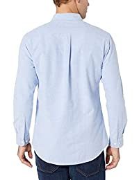 Camisa Oxford de manga larga sólida de ajuste regular para hombre   Essentials
