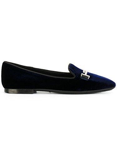 Loafers Xxw47a0v141hgc2643 Women's Tod's Blue Velvet wx0IYPqg