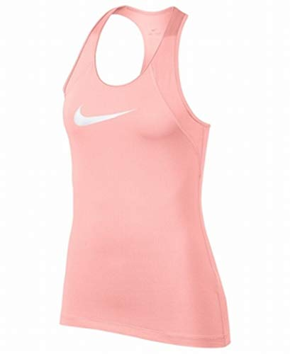 - Nike Womens Logo Mesh Dri-Fit Stretch Activewear Top Pink XL