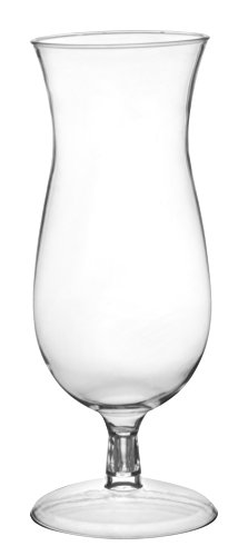 Quenchers Clear PET Hurricane Drinking Glass (Case of 60), 14 oz