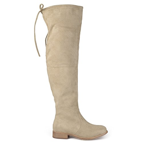 Brinley Co Women's Spur Over The Knee Boot, Taupe, 11 Regular US by Brinley Co