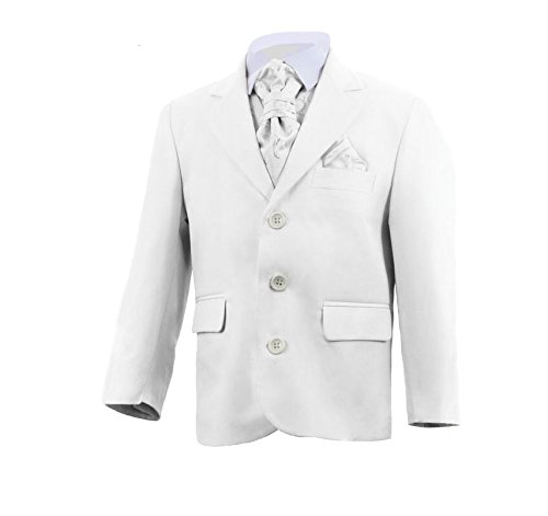 Boys Five Piece Holy Communion Christening White Ivory Suit Outfit Sets 1-15 Yrs