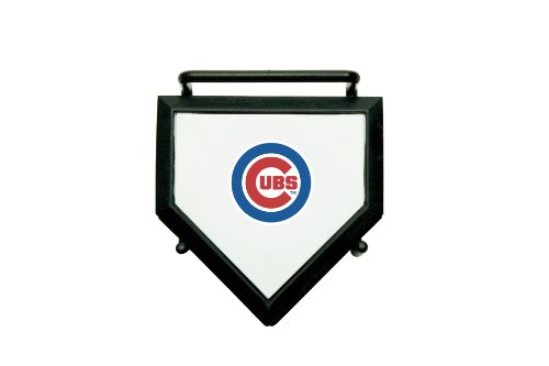 MLB Chicago Cubs Home Plate 4-pack Coaster (Miniature Christmas Plate)
