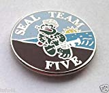 Pin for Backpacks - US Navy Seal Team Five Military Veteran Hero Hat Pin - Accessories for Clothes