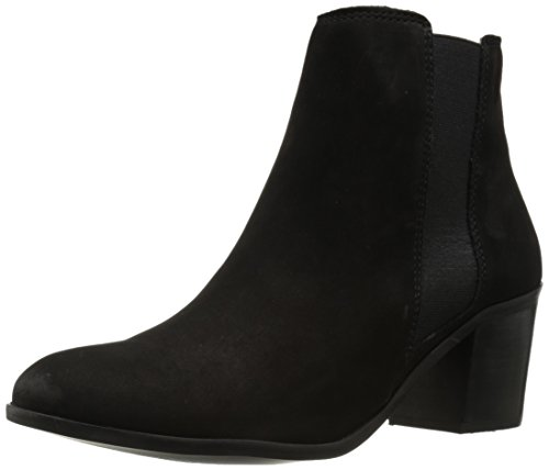 Dune London Women's Pora Boot, Black Nubuck, 8 M US