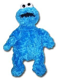 Sesame Street Cookie Monster Plush Backpack