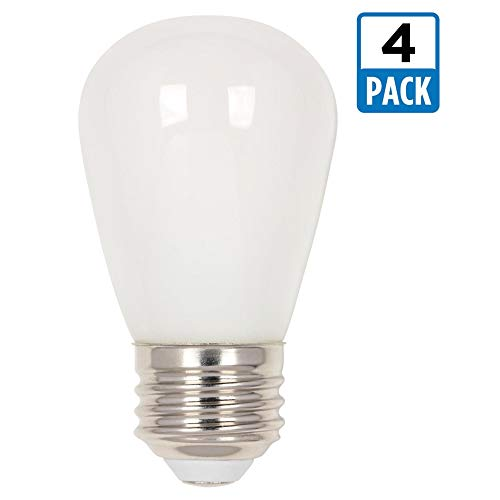 Price comparison product image Westinghouse Lighting Westinghouse 5511520 1.2 (15-Watt Equivalent) S14 Frosted,  E26 (Medium) Base (4 Pack) LED Light Bulbs