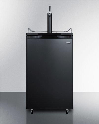 Summit SBC582B Single Faucet Freestanding Kegerator - Black