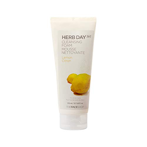 The Face Shop - Herb Day Cleansing Cleansing Foam (Lemon)170ml /Made in Korea (The Face Shop Herb Day Cleansing Cream)