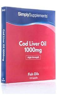 Aceite de Bacalao 1000 mg - 120 cápsulas - Hasta 4 meses de suministro - Con