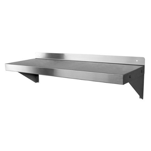 (DuraSteel NSF Approved Stainless Steel Commercial Wall Mount Shelf 14