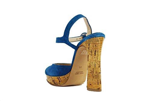 CHIARINI BOLOGNA AH576 Sandalias mujer gamuza Azul