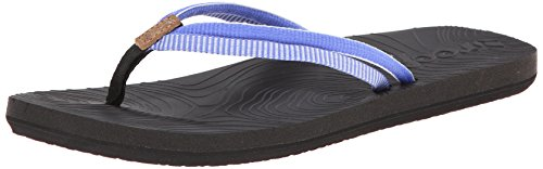 Reef Women's Double Zen Flip Flop,Black Blue,5 M US