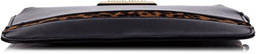 Dorothy Perkins Black Stripe Panel Wristlet - Borsette da polso Donna, Black, 22x15.5x0.5 cm (W x H L)