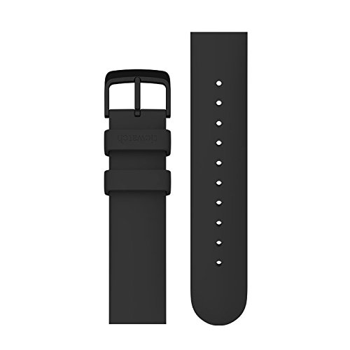 Ticwatch E 2 Silicon Rubber Watch Bands 20mm Accessory Watch Straps Colorful Sports (Black)