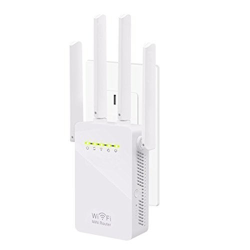 Wifi Repeater, KeepTpeeK 300Mbps 2.4GHz Wifi Range Extender Signal Extenders Internet Booster Wireless Router 360 degree Wifi Booster Signal Amplifier with Four Antennas