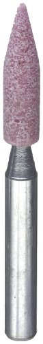 "PFERD 31104 A15, Grit 60 - Medium, Aluminum Oxide Vitrified Mounted Point With 1/4"" Shank"