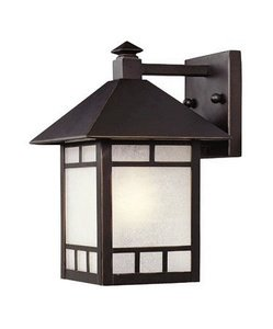 Acclaim 9002ABZ Artisan Collection 1 Light Wall Mount Outdoor Light  Fixture, Architectural Bronze