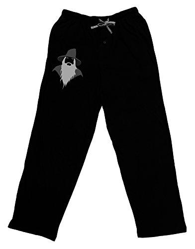 TooLoud Grey Wizard Adult Lounge Pants - Black- Large