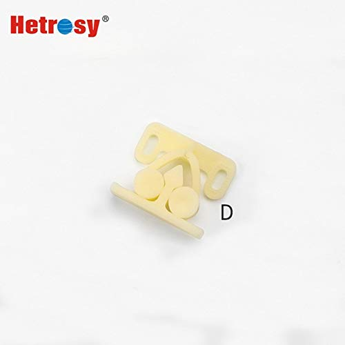 Hetrosy ABS Plastic Push To Open Rebound Cabinet Door Roller Catch Latch Lock For Laboratory Equipment Furniture Yacht 50PCS - (Color: D Type)
