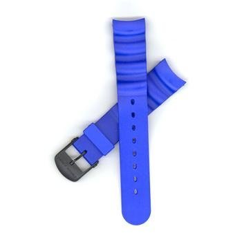Swiss Army Odyssey Extreme Blue Rubber 20mm Watch Strap