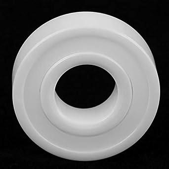 6001-2RS 12x28x8mm High Precision Sealed Full Ceramic ZrO2 Ball Bearing White