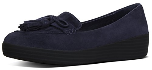 Scarpe FitFlop Nappa Fiocco Sneakerloafer UK5.5 Midnight Navy