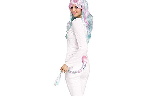 Fun World Pastel Braided Unicorn Tail Adult Costume Accessory (Pastel Braid) -