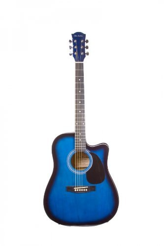 Directlycheap 6 String Acoustic-Electric Guitar, Blue, Right Handed (GA204CE-BLS+Lessons)