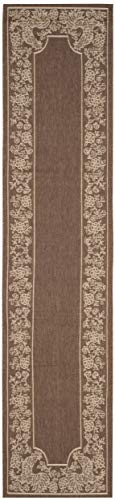 Safavieh Courtyard Collection CY3305-3409 Chocolate and Natural Indoor/ Outdoor Runner (2'3