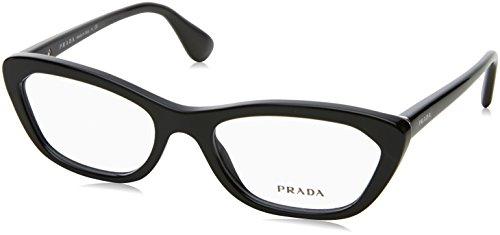 Prada Black (Prada Eyeglasses VPR 03Q Black 1AB-1O1 PR03QV)