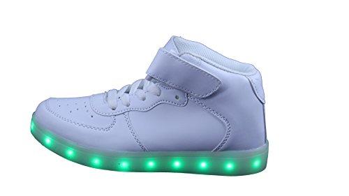 LED Schuhe Unisex Weiss Versand Aus Deutschland Sneaker Blinken Farbwechsel