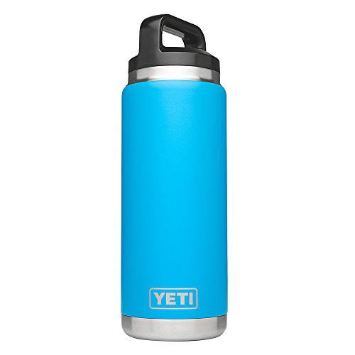 YETI Rambler 26oz Vacuum Insulated Stainless Steel Bottle with Cap, Tahoe Blue DuraCoat