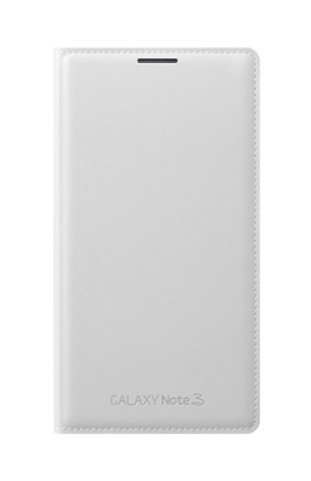 new product 861df 0f609 Samsung Galaxy Note 3 Wallet Flip Cover (White) EF-WN900BWEGIN