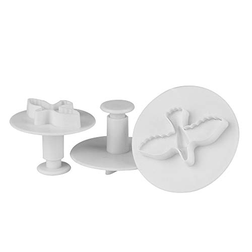 xatos Cupcake Mold Mini 3Pcs Pigeon Cake Fondant Cookie Decorating Plunger Mold Chocolate Mold Reusable Food Grade Safe ()