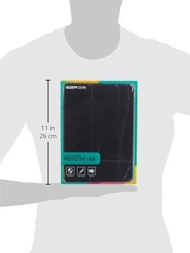 iPad Air 2 Hülle, ESR® Yippee Bildserie Auto aufwachen / Schlaf Funktion Wickelfalz Ledertasche mit Lichtdurchlässig Rückseite Abdeckung Schutzhülle für iPad Air 2 / iPad 6 (Schwarz)