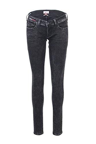 Ultra Donna Tommy Dw0dw01087 L30 Natalie Low Hilfiger W27 Nero Jeans Rise fSwfqtnAx