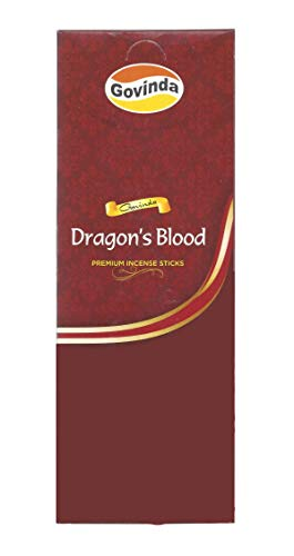 Govinda Incense - Dragon's Blood - 120 Incense Sticks, Masala Coated Incense