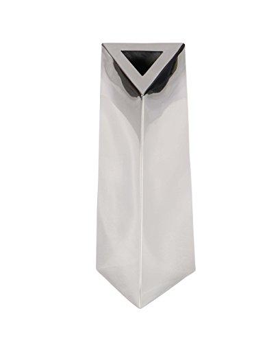 - Deco 79 90889 Triangular-Prism Stainless Steel Vase, 12