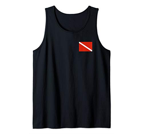 Diver Down Dive Flag Scuba Diving Tank Top