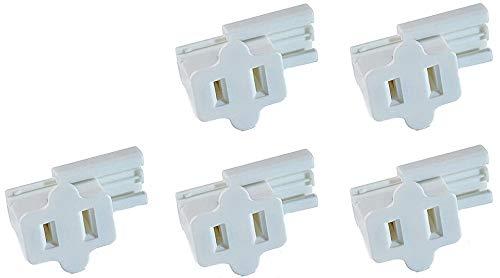 Creative Hobbies White SPT-1 Female Slip On Plug, Zip Plug, Vampire Plug, Gilbert Plug, Slide Together Plug Add On Outlet, Pack of 5
