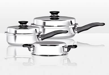 iCook 5-Piece Sauté Pan Set with Lids 5 Pieces 31ighjp7pdL