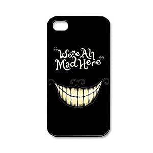 ZCL Customized We're All Mad Here Pattern Plastic Hard Case for iPhone 4/4S